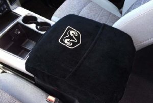 3500 2012-19 Center Console Armrest Cover Waterproof Neoprene Fabric Auto Console Covers- Compatible with The Ram 1500 Brown 2500